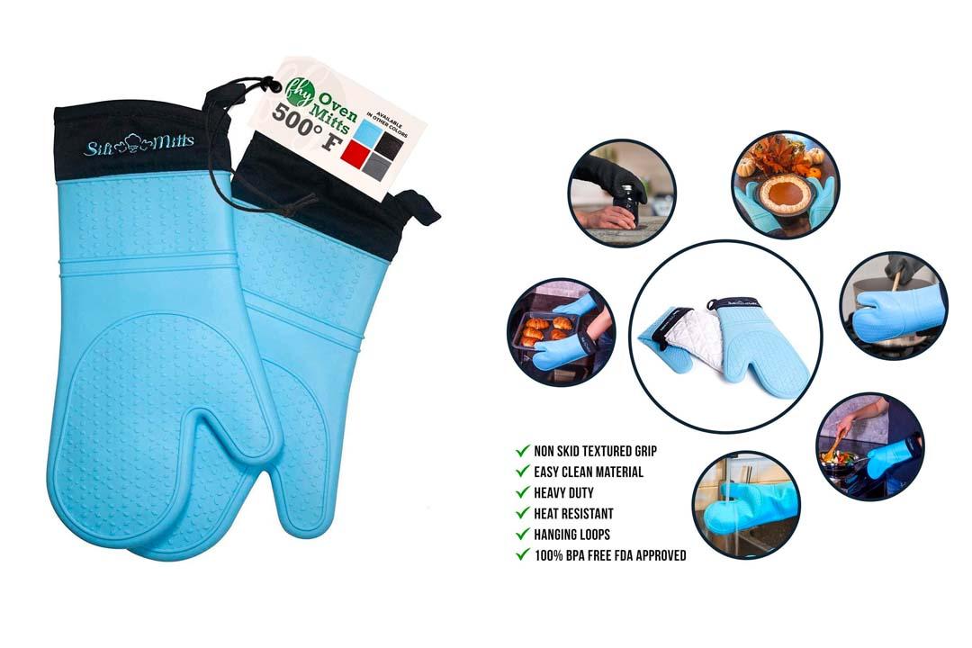 Professional Heat-Resistant Potholder Gloves