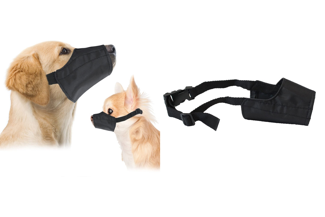 Quick Fit Dog Muzzle with Adjustable Straps, black nylon