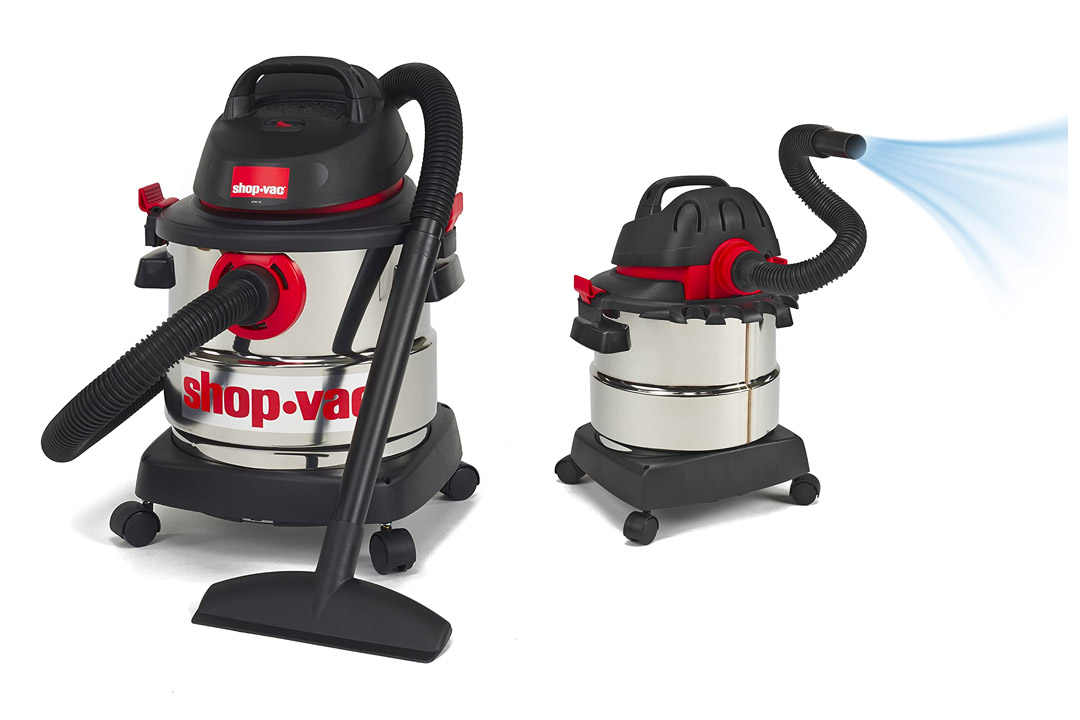 Shop-Vac 5986000 5-Gallon 4.5 Peak HP Stainless Steel Wet Dry Vacuum