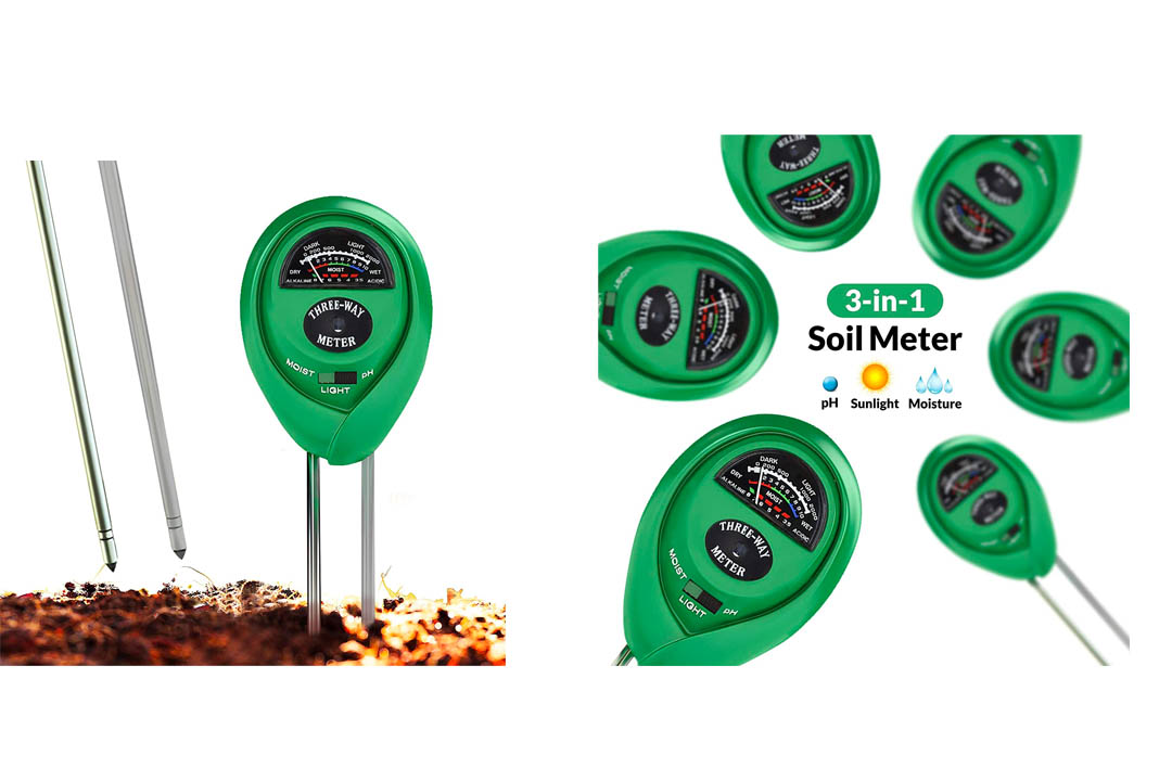 Soil pH Meter, 3-in-1 Soil Test Kit For Moisture, Light & pH, A Must Have For Home And Garden