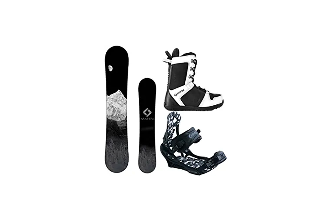 System MTN and APX Complete Men's Snowboard Package