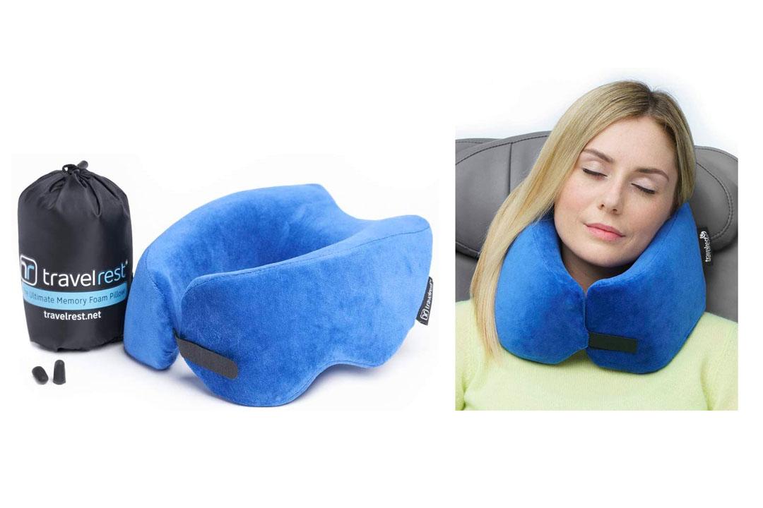Travelrest The Ultimate Memory Foam Travel Pillow