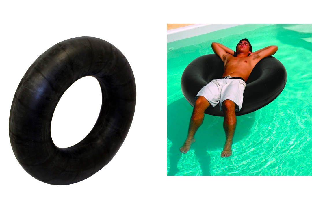 Tricam BT-45 Inflatable Swim and Snow Tube, 45-Inch, Black