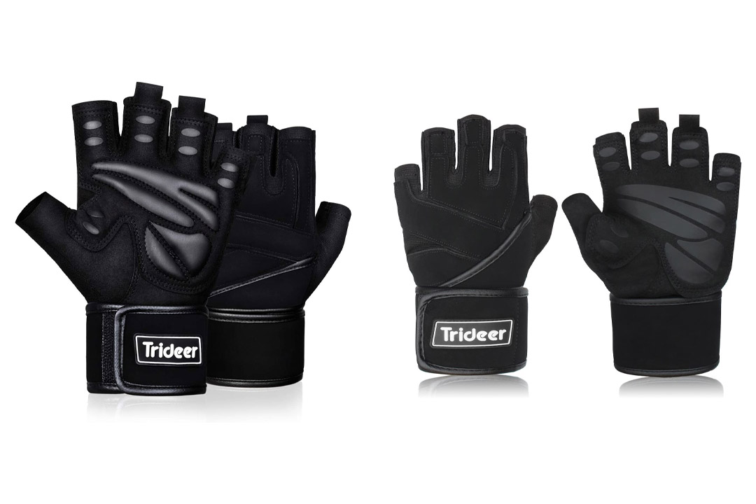 Trideer Padded Weight Lifting Gym Workout Gloves