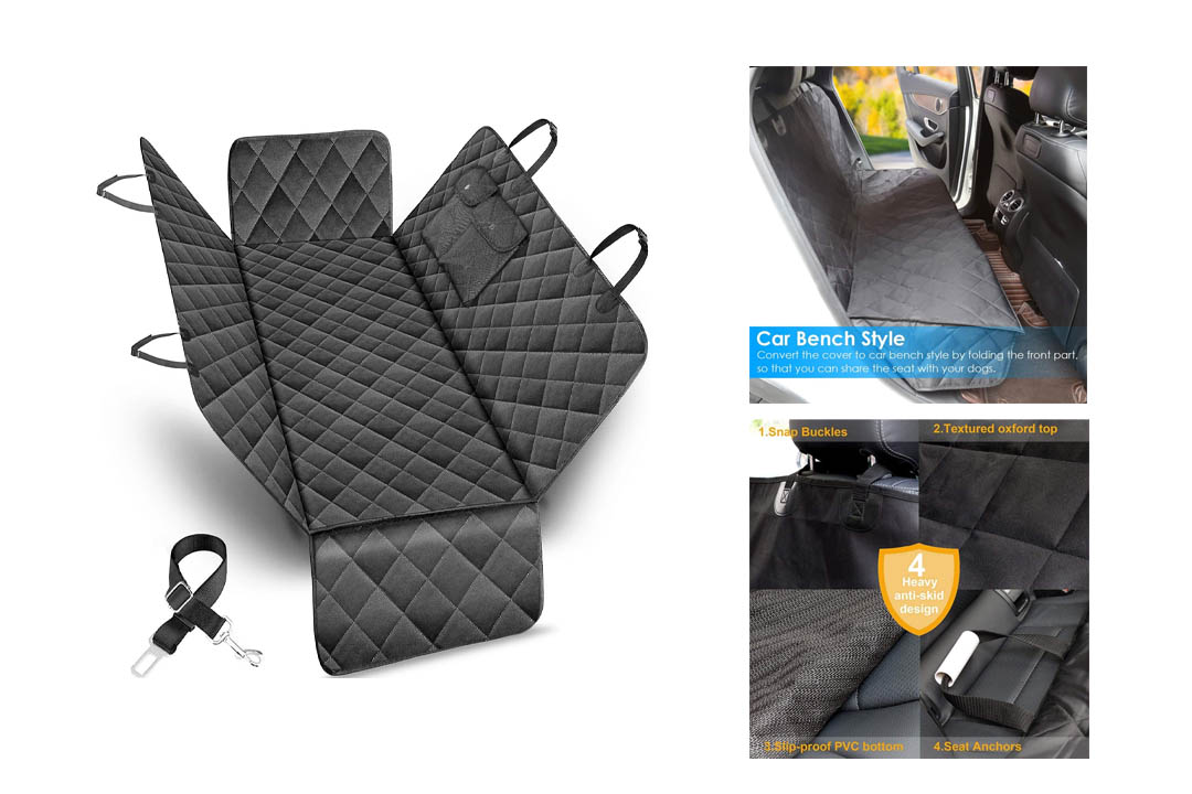 URPOWER Pet Seat Cover Car Seat Cover for Pets - Waterproof & Scratch Proof & Nonslip Backing