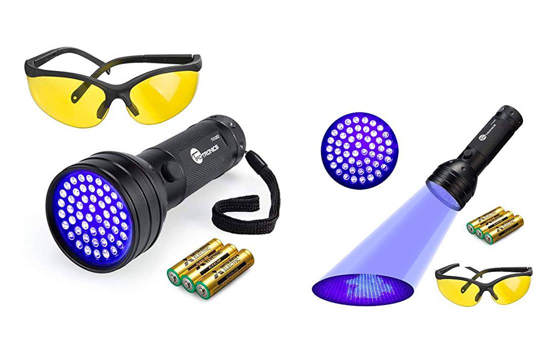 UV Flashlight Black Lights, TaoTronics 51 Ultravilot Urine Detector for dogs, Pet Stain Detector