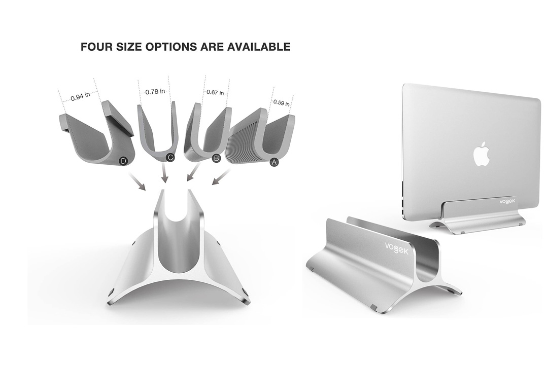 Vertical Laptop Stand, Vogek Ucradle Desktop Space-saving Stand for MacBook