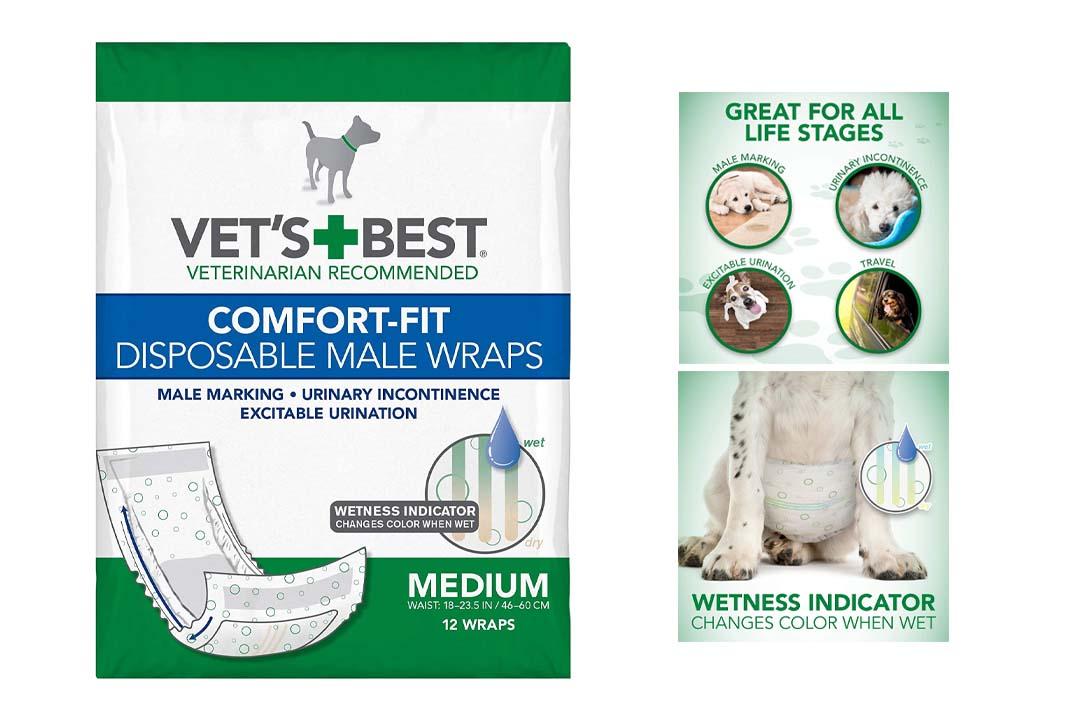 Vet's Best Comfort-Fit Disposable Male Wrap