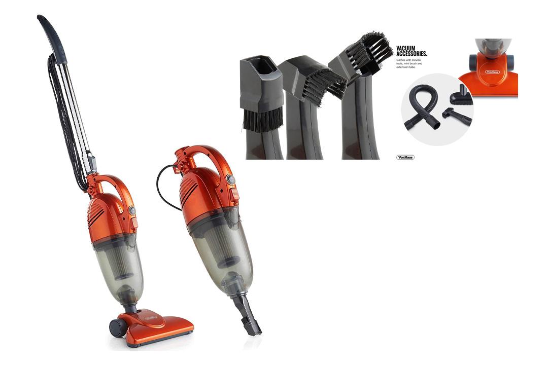 VonHaus 600W 2-in-1 Corded Upright Stick & Handheld Vacuum Cleaner