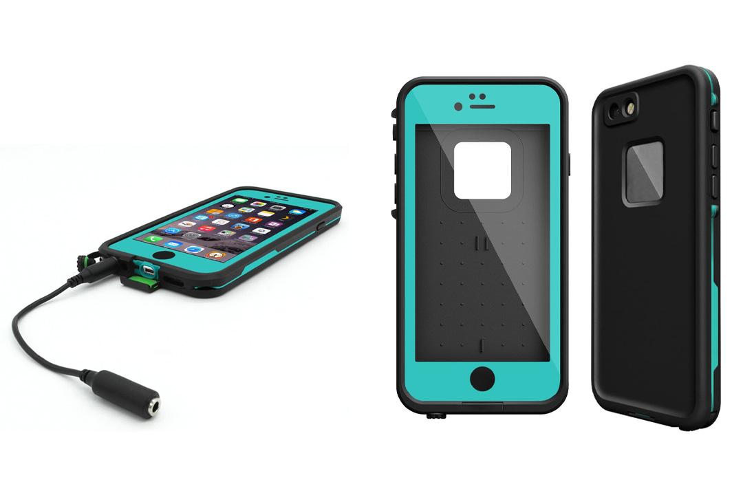AMBM Newest Waterproof Case for Iphone 6 Plus Iphone 6S Plus Shockproof DirtProof SnowProof [Teal]