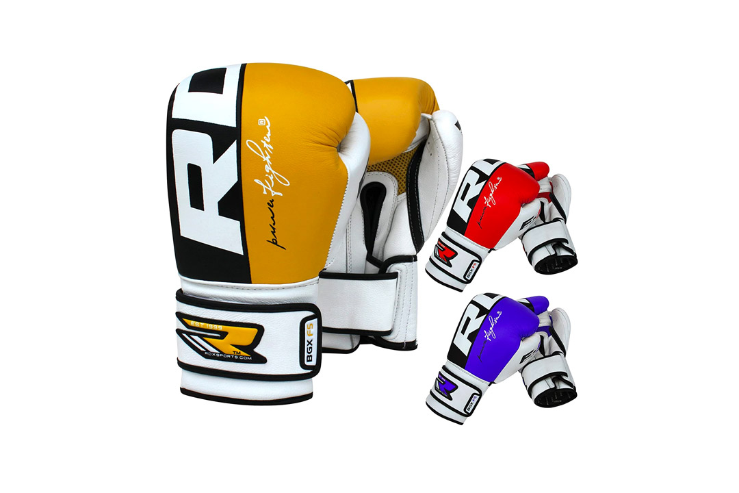 Authentic RDX Cow Hide Leather Gel Boxing Gloves