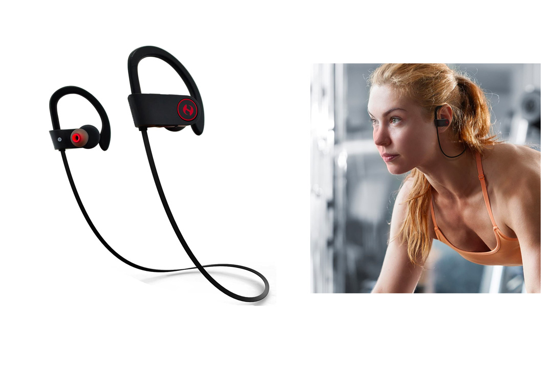 Bluetooth Headphones, Hussar Magicbuds Best Wireless Sports Earphones with Mic