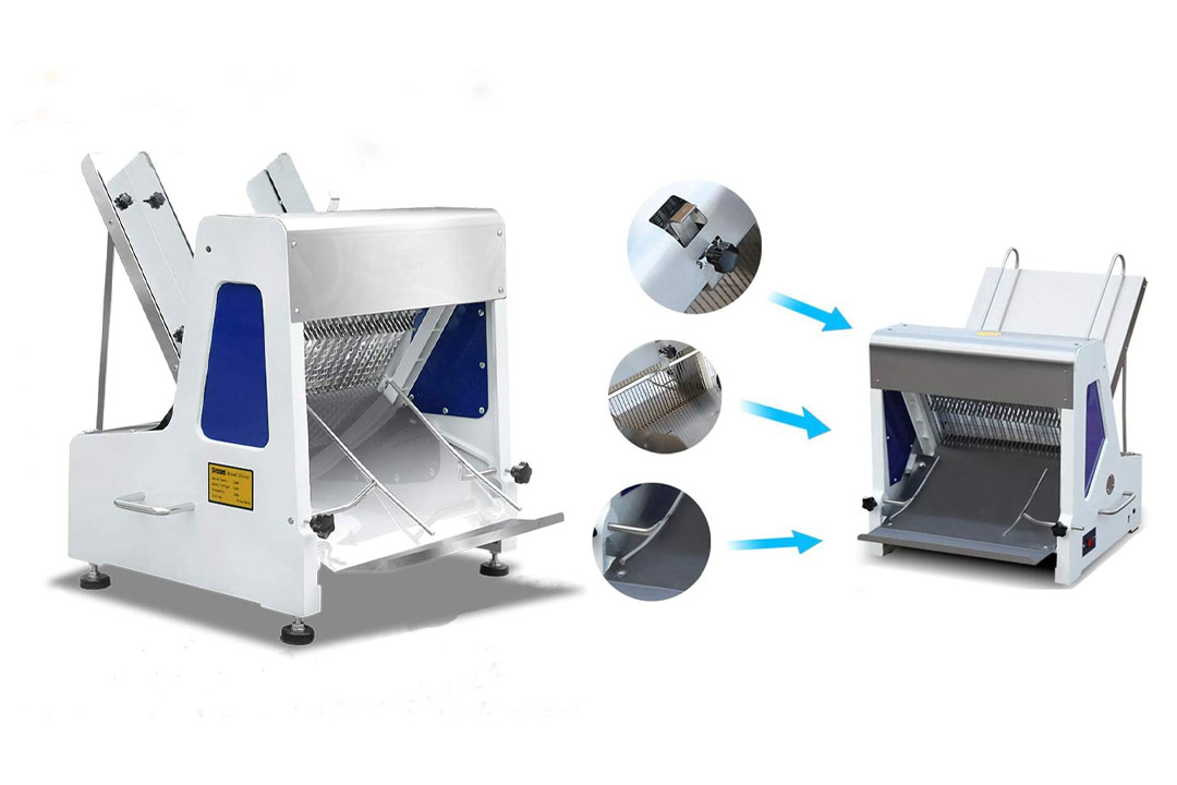 """Commercial 110v Heavy Duty Automatic Electric Bread Slicer Machine 0.47"""""""