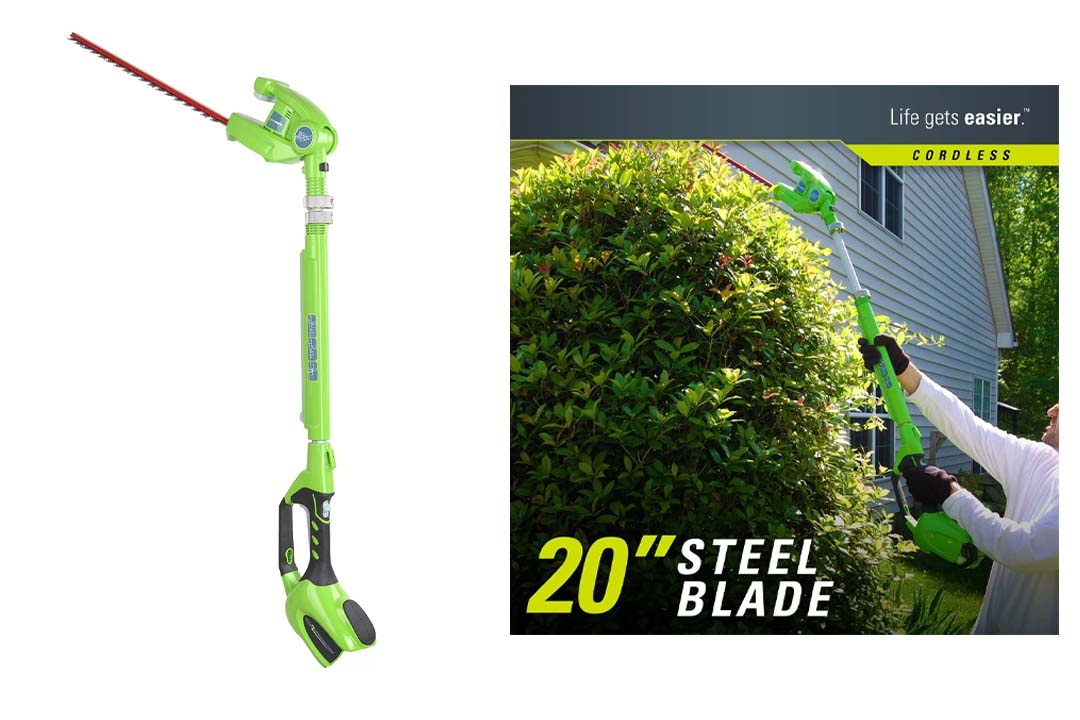 Green Works Cordless Pole Trimmer