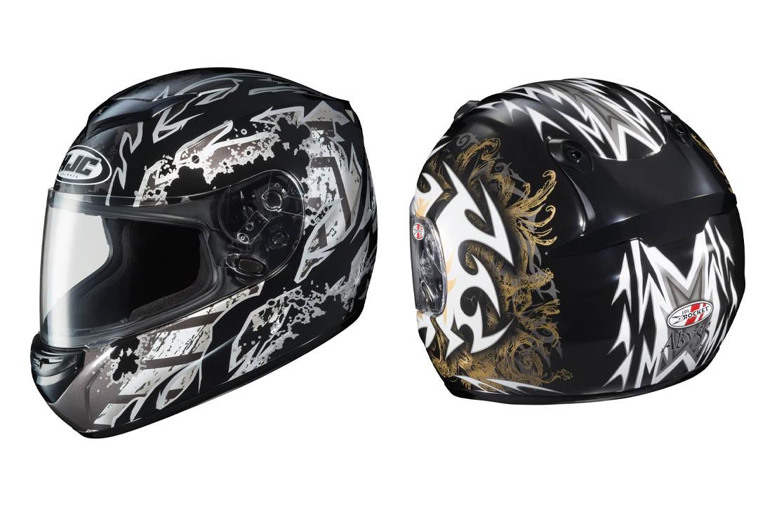 HJC CS-R2 Skarr Full Face Motorcycle Helmet - MC-5 Black, X-Large