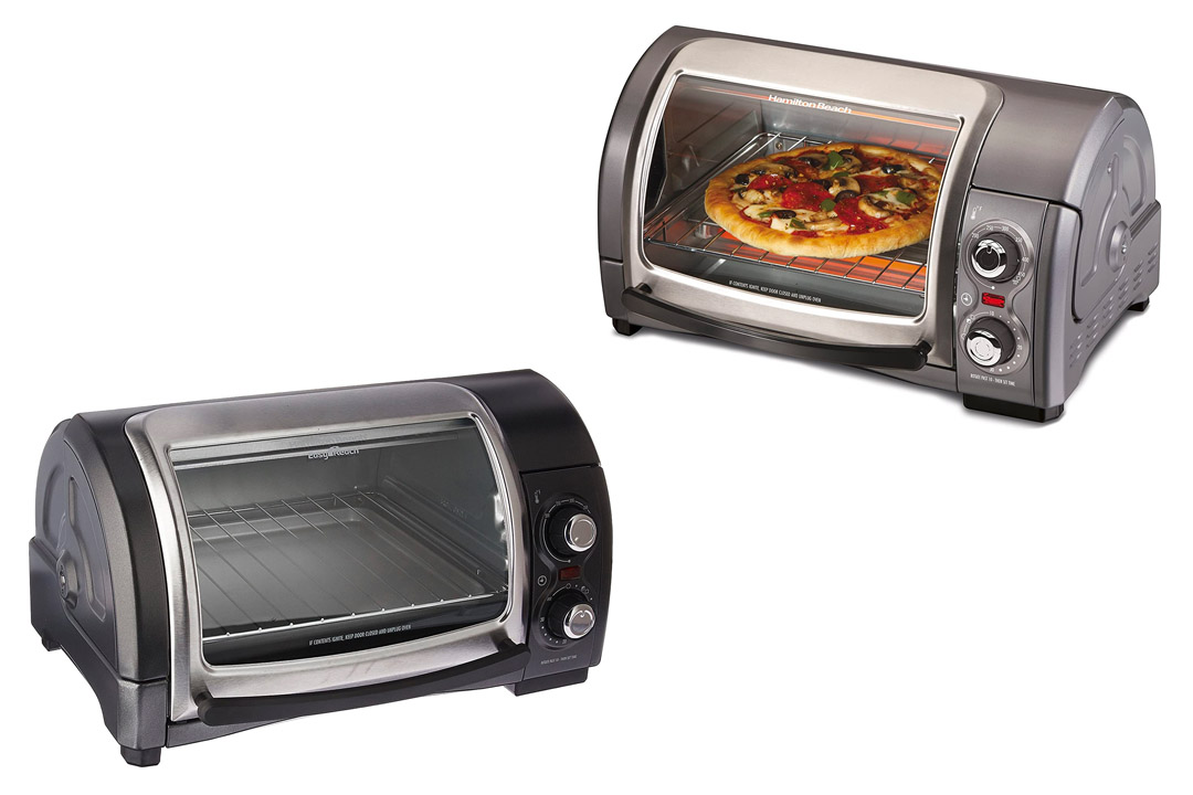 Hamilton Beach Easy Reach Toaster Oven, Metallic
