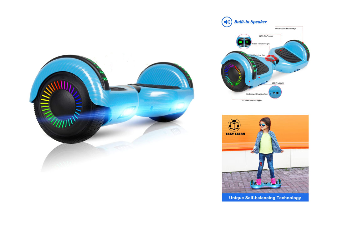 "LIEAGLE 6.5"" Hoverboard Self Balancing Scooter with Bluetooth UL2272 for Kids"