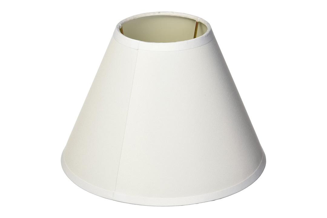 Lamp Shade, Darice 5200-29, White Fabric-covered, Fits Standard Light Bulb