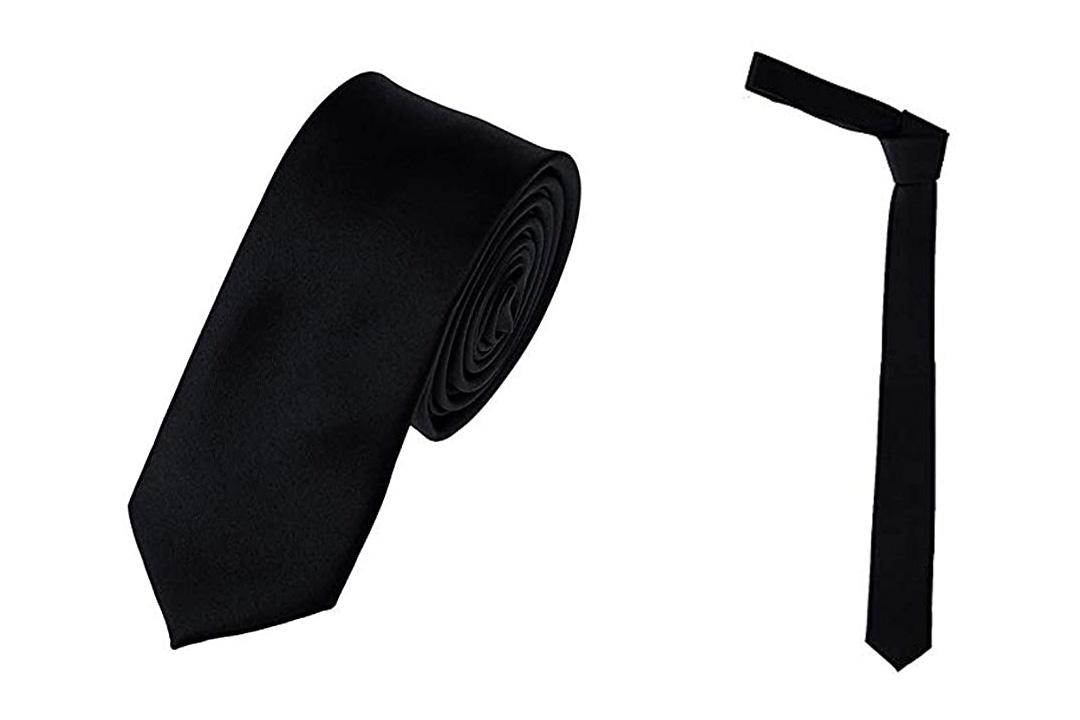 Mens Solid Color 2'' Skinny Tie