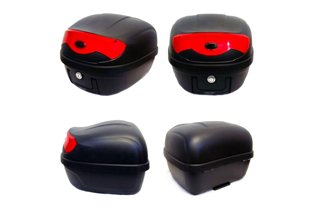Scooter Top Case Wear-Resistant Anti-Collision Strong Load Bearing ZMCOV Motorcycle Top Box Back Box Motorbike for Luggage Helmet Storage