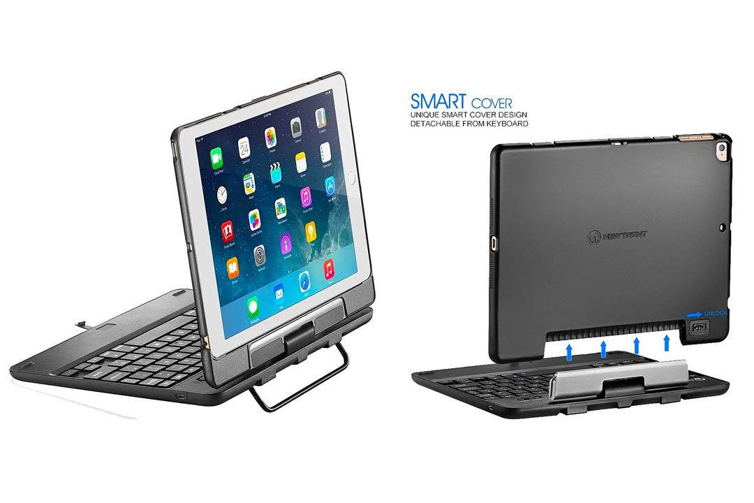New Trent Airbender 1.0 Wireless Bluetooth Clamshell iPad Keyboard Case
