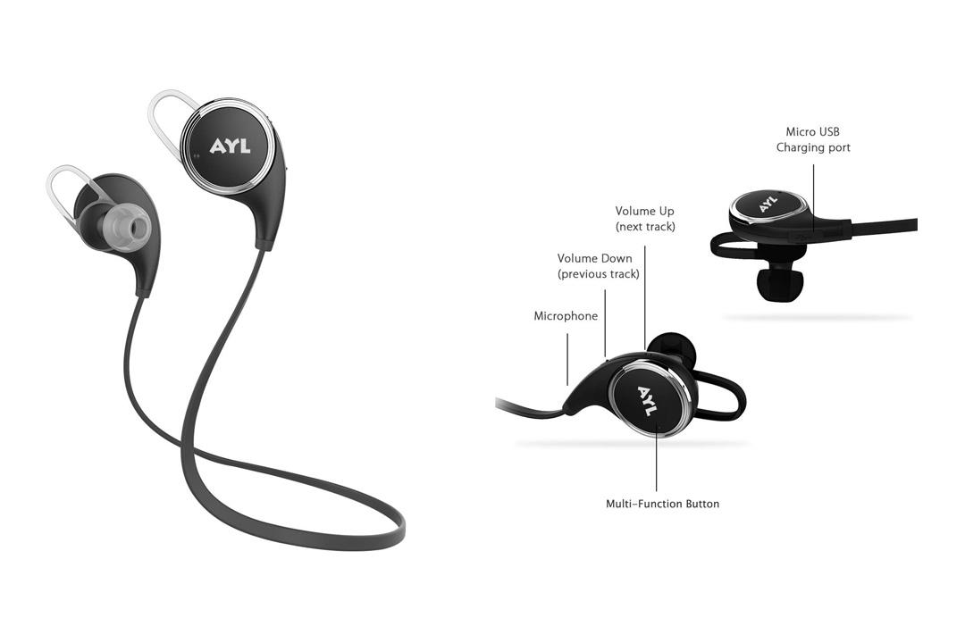 Noise Cancellation Sweatproof AYL Bluetooth headset