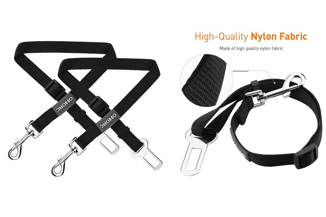 OMorc Dog Seat Belt -2 Pack, Nylon Car Leash For Dog/Cat, Safety Leads Vehicle