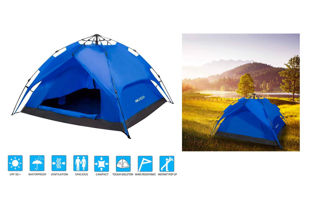 OUTCAMER Camping Tent Dome Instant 2 Person with Rain Fly
