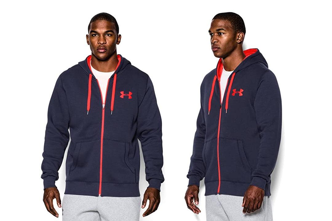 The UA Men's Rival Fleece Zip Hoodie