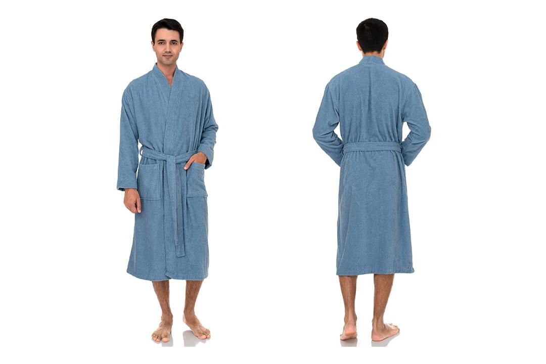 TowelSelections Men's Robe, Turkish Cotton Terry Kimono Bathrobe Made in Turkey