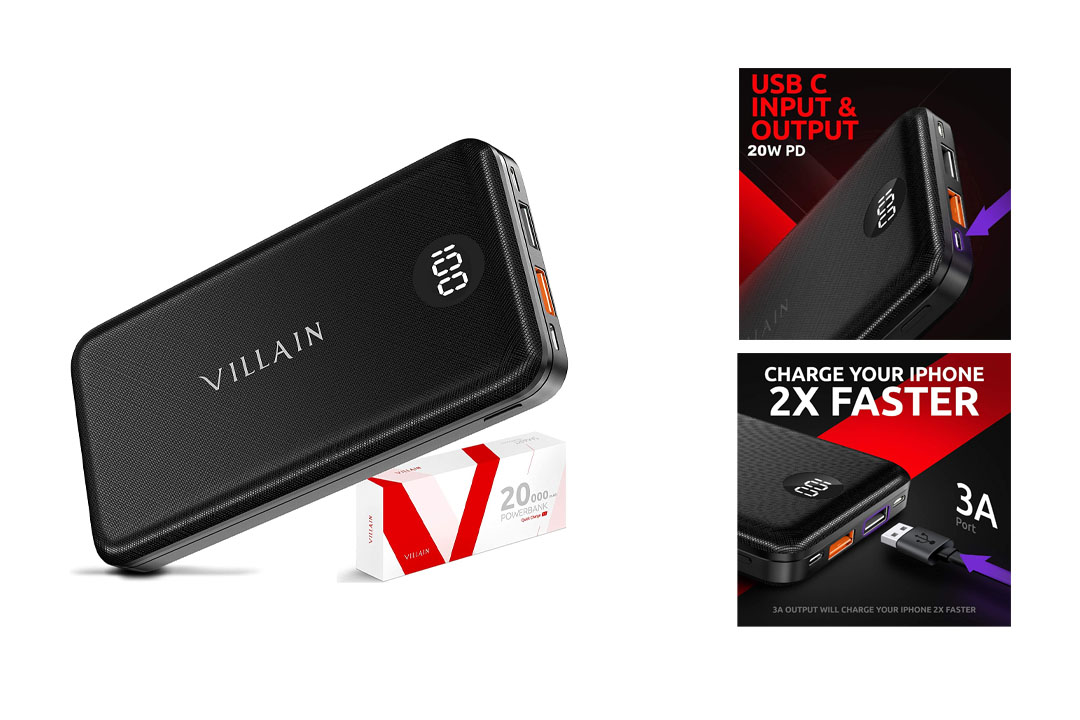 VILLAIN 20000mAh Power Bank