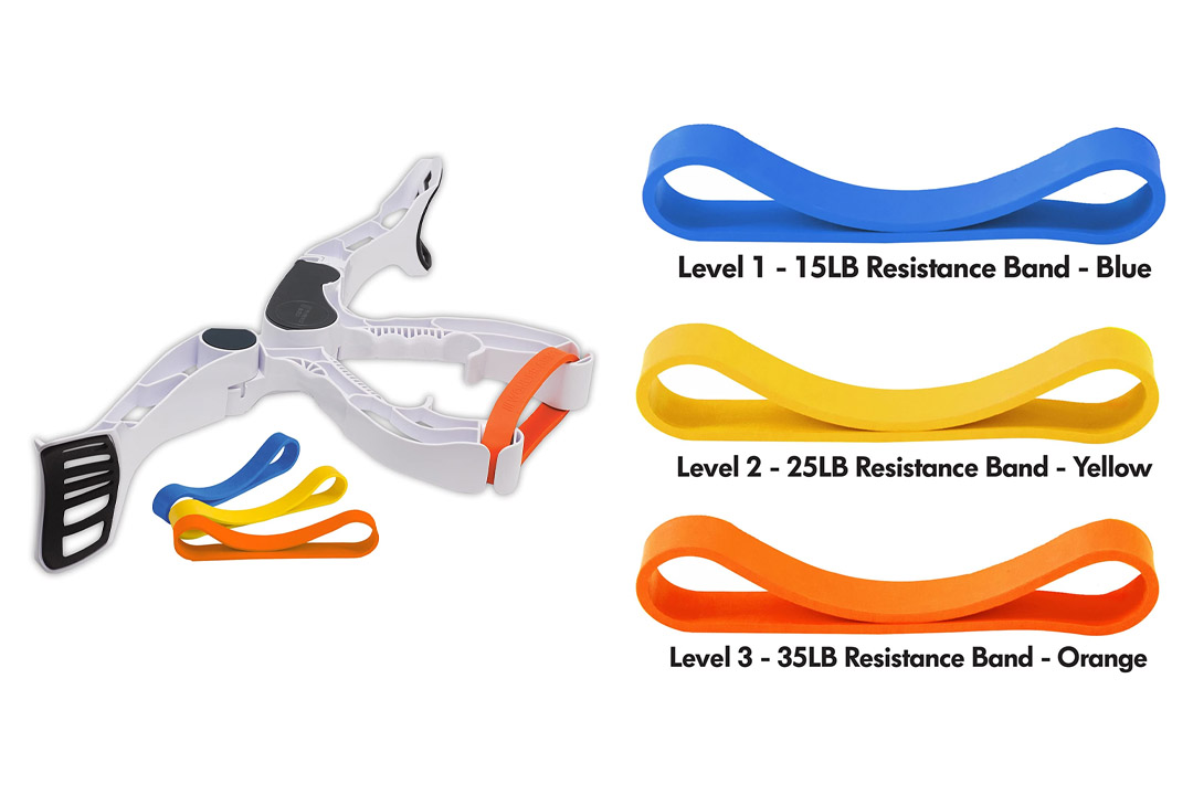 Wonder Arms Total Workout System Resistance Training Bands, White