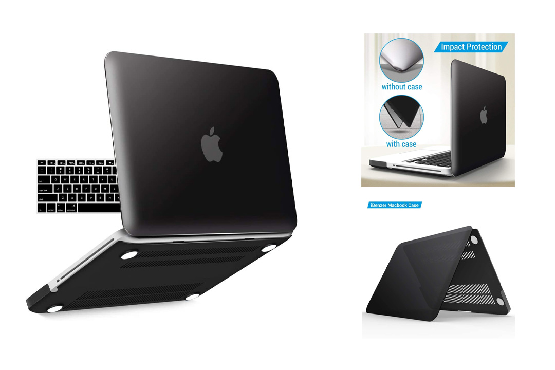 iBenzer Basic Soft-Touch Series Plastic Hard Case & Keyboard Cover for Apple MacBook Pro 13-inch