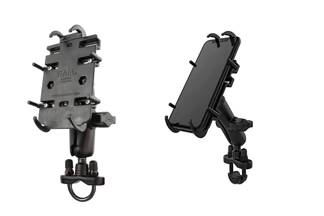 RAM-B-149Z-PD3U: RAM Motorcycle and bicycle Universal Handlebar Mount for SmartPhone