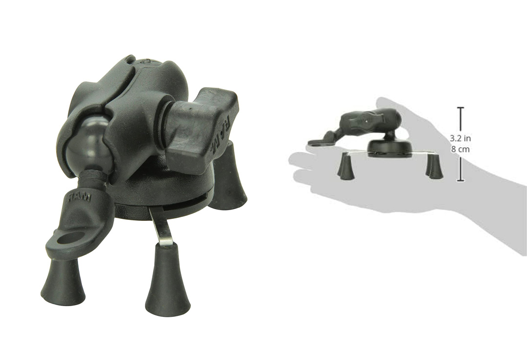 RAM Mounts (RAM-B-272-A-UN7) 9 mm Angled Base Motorcycle Mount
