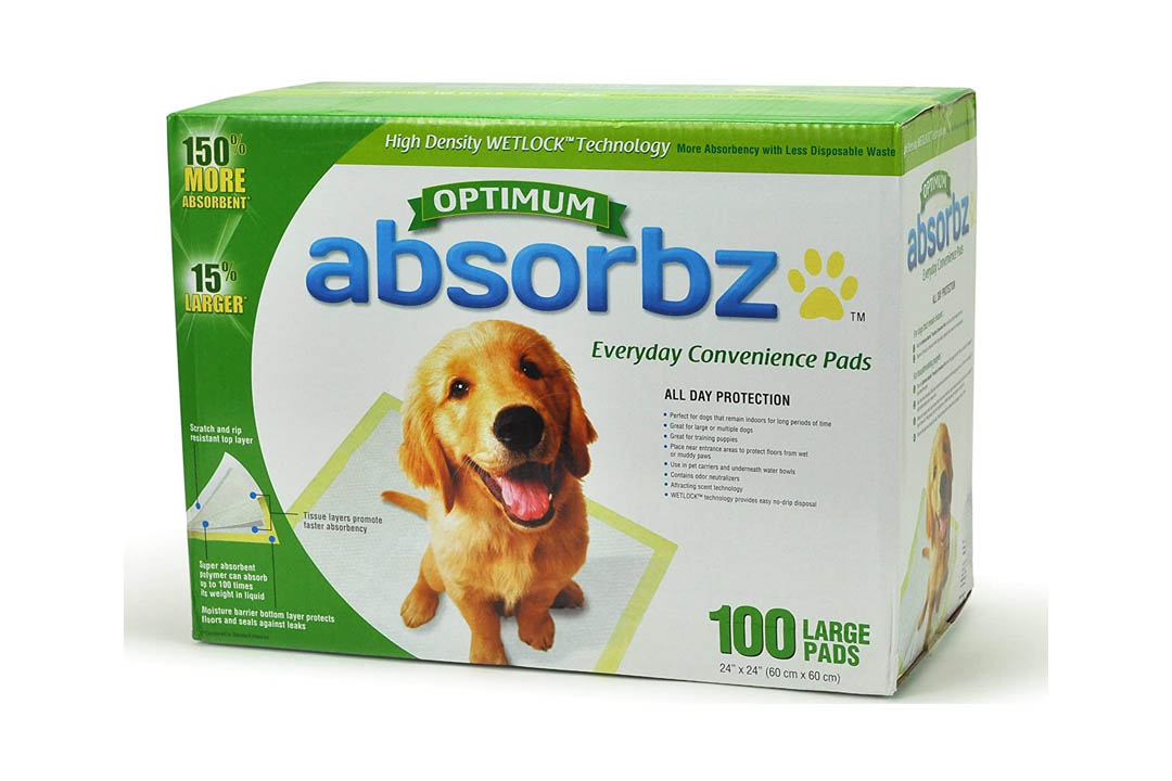"""Absorbz Optimum 584987 Training Pads for Pets, 100 Large Pads, 24""""x24"""""""