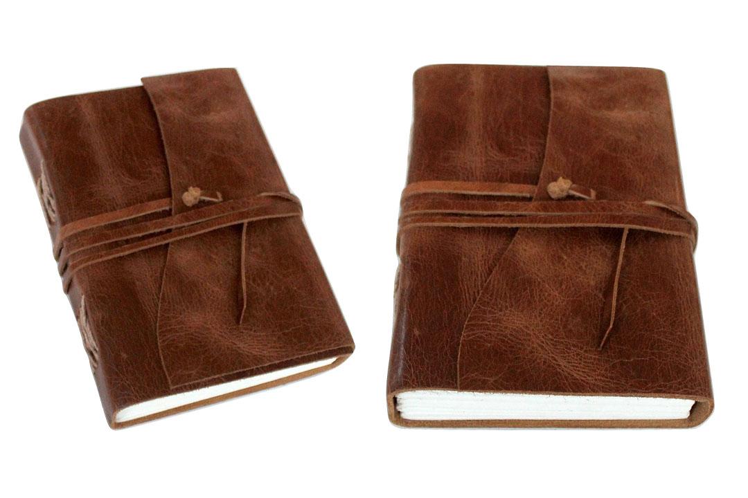 Antique Dark Brown Leather Journal