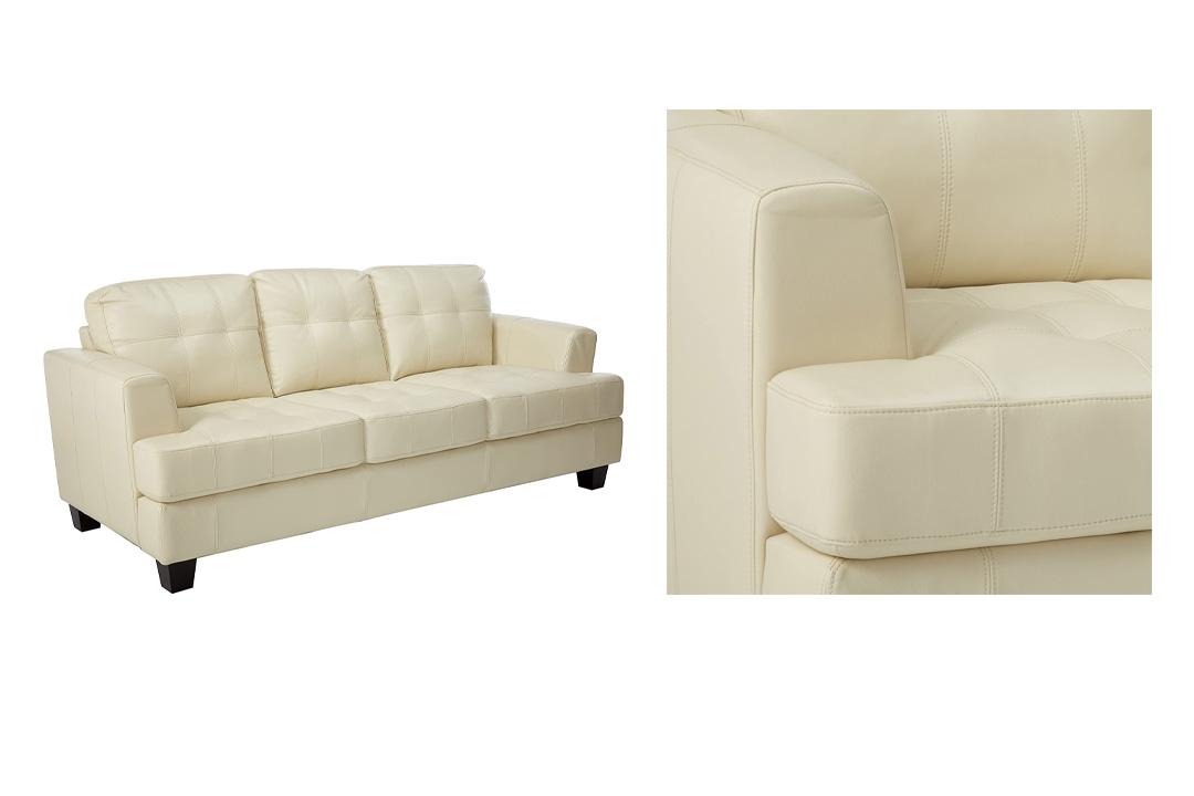 Coaster Home Furnishings, Samuel Collection Leather Sofa