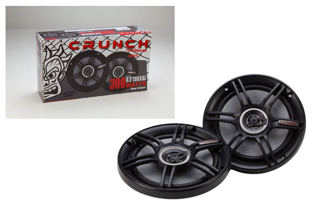 "Crunch CS65CXS Full Range 3-Way Shallow Mount Car Speaker, 6.5"""