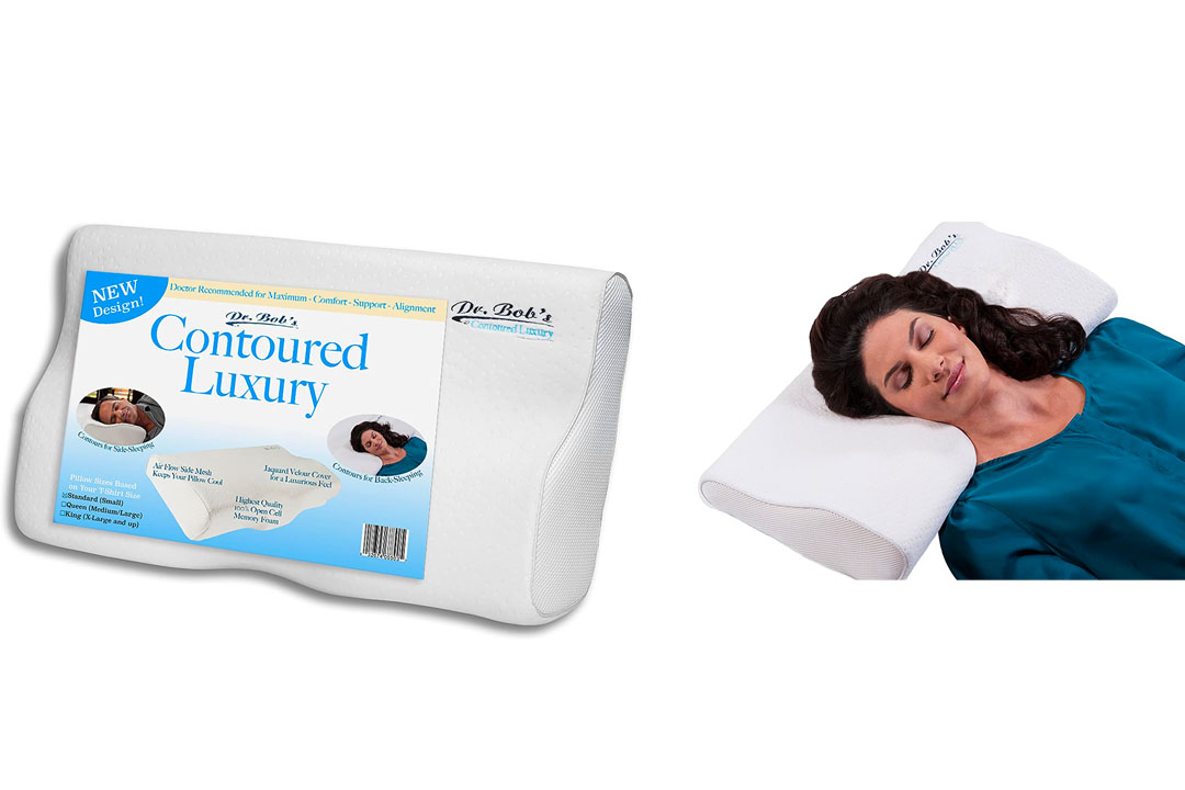 Dr. Bob's Contour PLUS -DOCTOR DESIGNED for Comfort & Support. Highest Quality Memory Foam