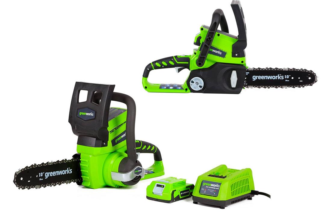 GreenWorks 20362 24V 10-Inch Cordless Chainsaw