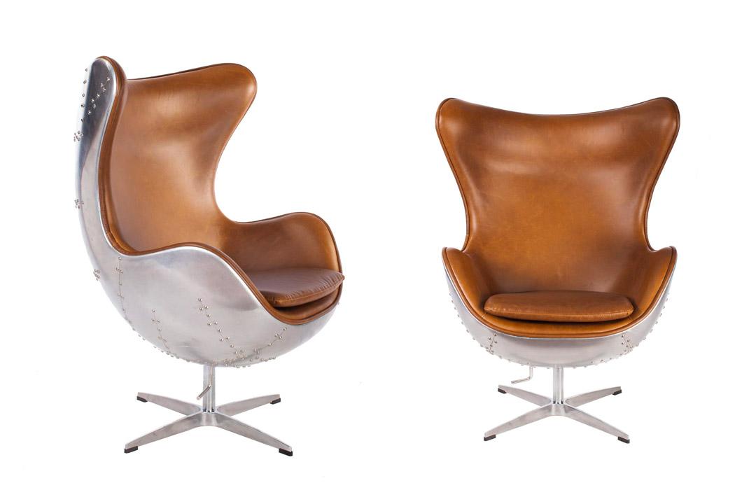 Hand-Hammered Aviator Aluminum Mid Century Modern Classic Arne Chair
