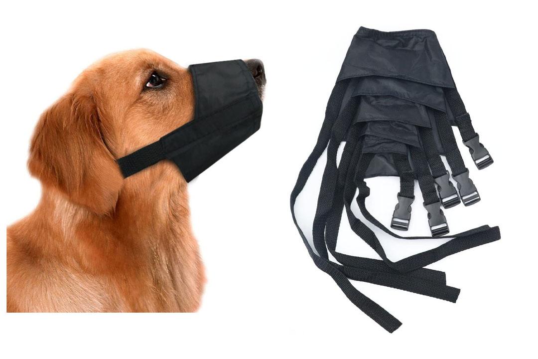 Idepet 1SET Dog Muzzles Suit, 5PCS Adjustable Dog Mouth Cover Anti-biting Barking Muzzles
