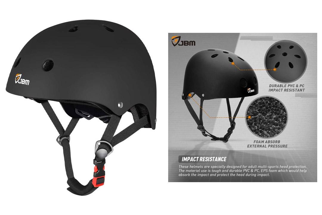 JBM Skateboard Helmet CPSC ASTM Certified Impact resistance Ventilation for Multi-sports Cycling Helmet