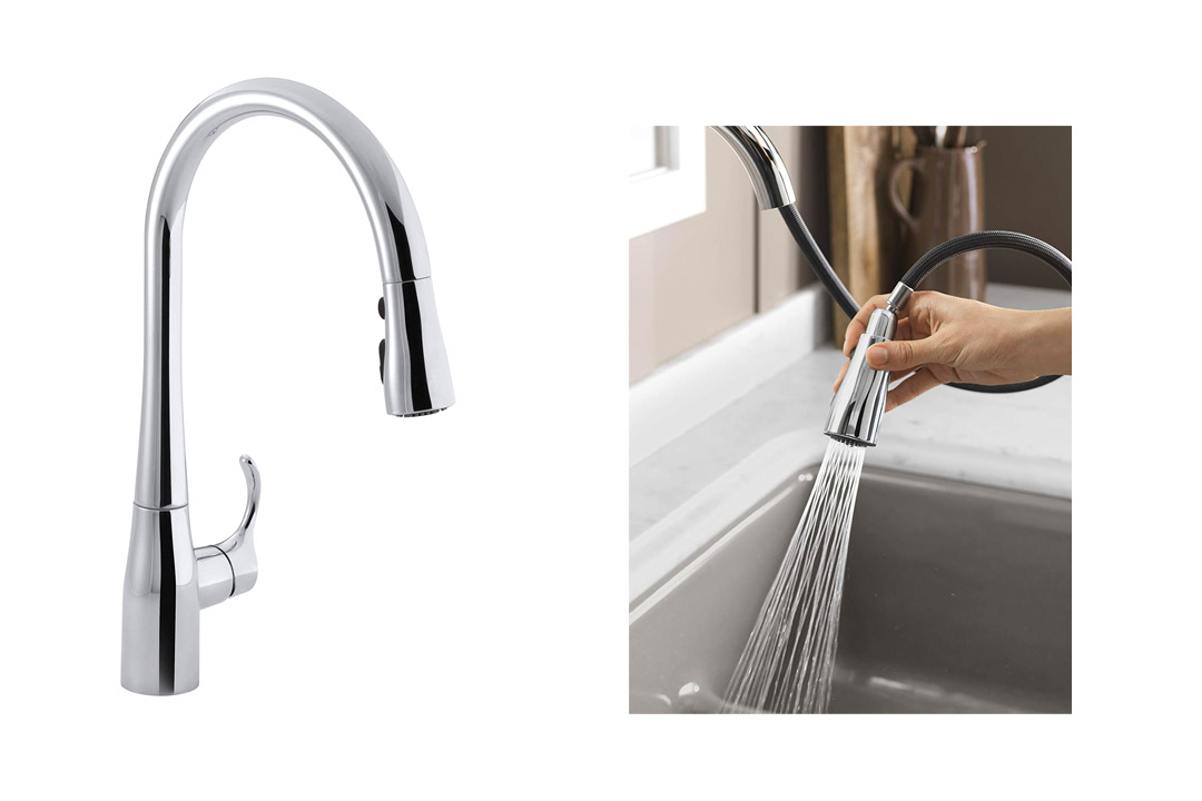 KOHLERK-596-CP Simplice Single-Hole Pull-down Kitchen Faucet