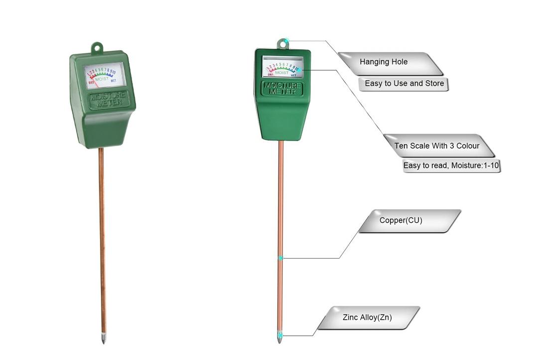 Mudder Soil Moisture Sensor Meter Hydrometer, Soil Water Monitor