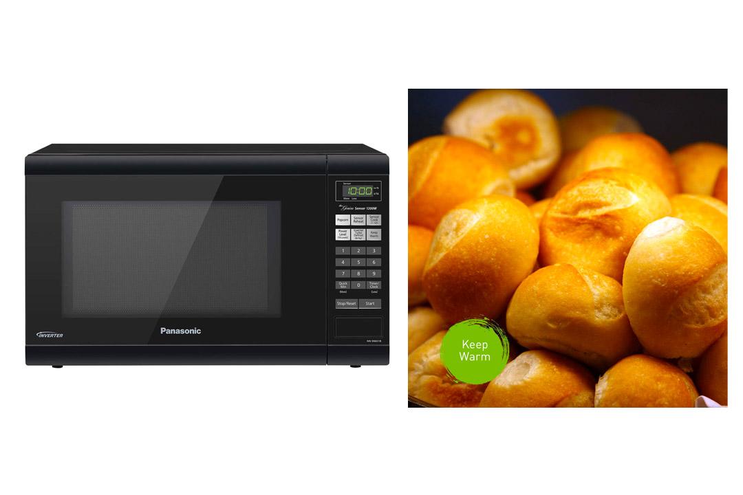 Panasonic NN-SN651BAZ Black 1.2 Cu. Ft Countertop Microwave Oven