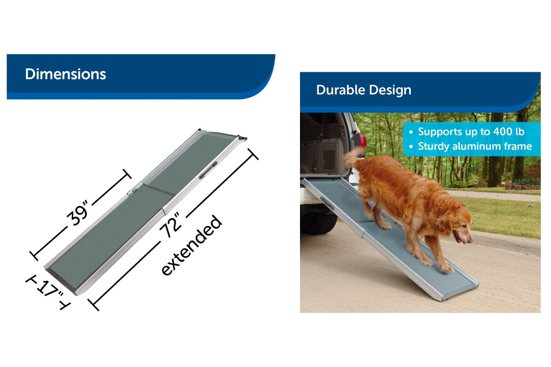 PetSafe Solvit Deluxe Telescoping Pet Ramp Portable Lightweight Aluminum Dog
