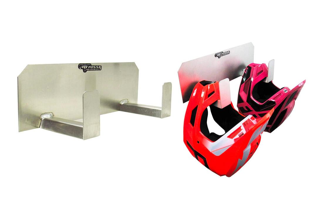 Pit Posse PP125 Dual Helmet Rack Holder Aluminum