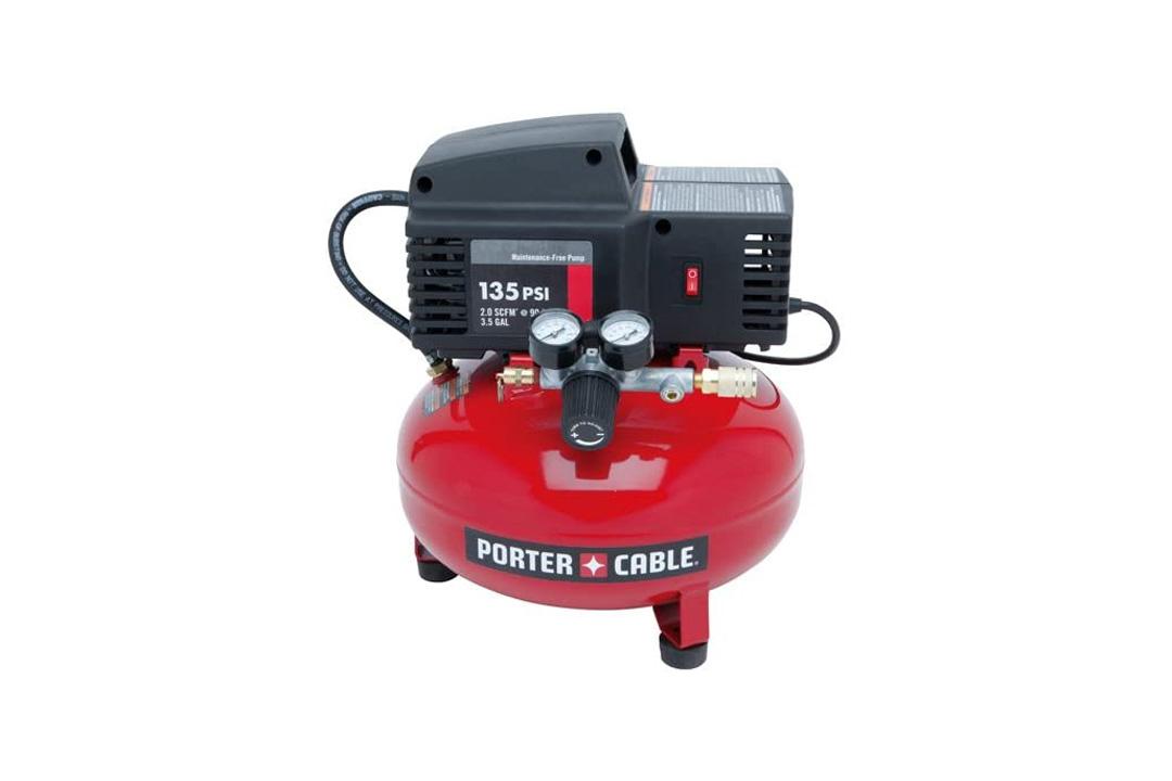 Porter Cable PCFP02003 3.5 Gallon 135 PSI Pancake Compressor